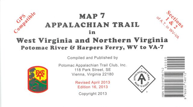 Map 7: AT in WV and N.VA - Potomac R & Harpers Ferry to VA 7
