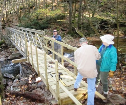 PATC Volunteers complete the Devils Nose Bridge Access Ramp