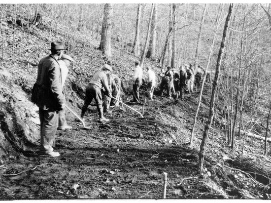 CCC boys work on trail