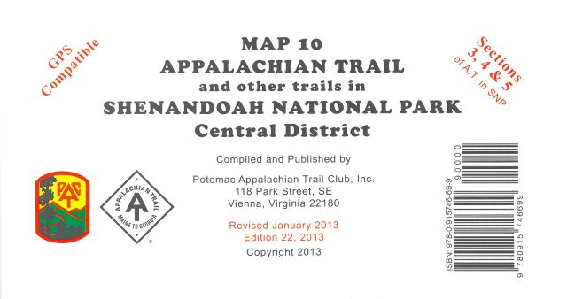 Map 10: AT in Shenandoah National Park (Central District)