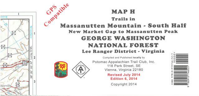 Map H: Massanutten Mt-South Half (New Market to Mass. Peak)