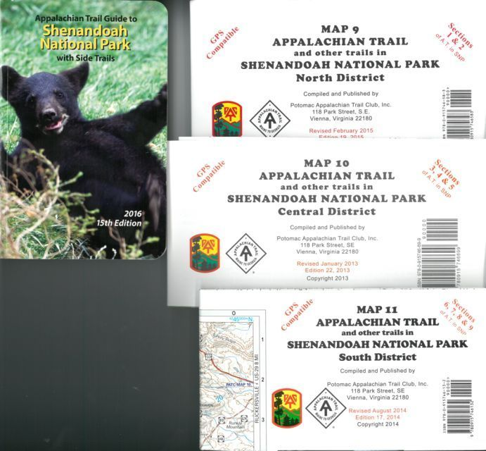 Appalachian Trail Guide Set #7 (Guide to SNP w/maps 9,10,11)