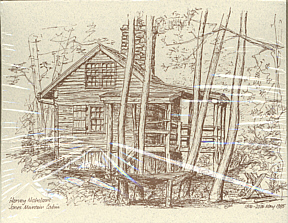 Notecards with Drawings of 3 PATC Cabins  (set of 10 w/env.)