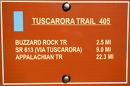 Tucarora Trail Sign