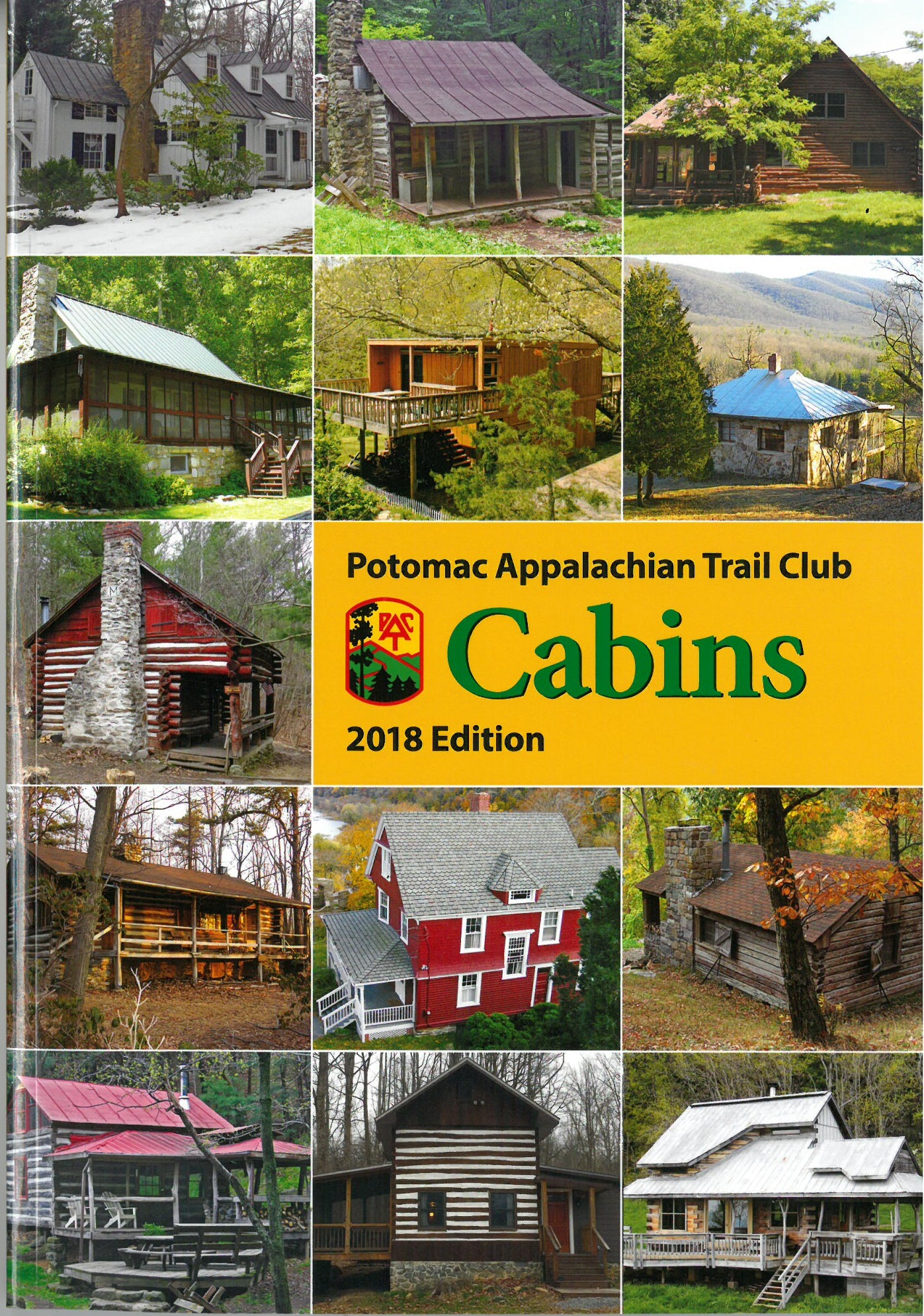 Potomac Appalachian Trail Club Cabins - 2018 Edition